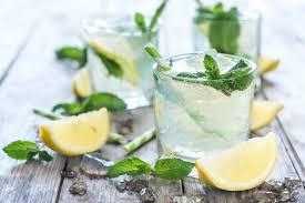 Whipped up natural mint lemonade