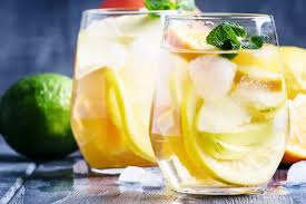 Refreshing citrus cocktail with vodka