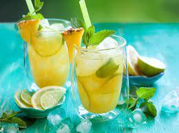 Pineapple juice lemonade