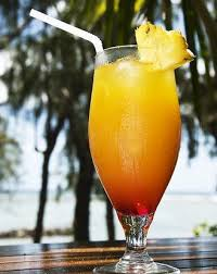 Orange juice and canned pineapple cocktail
