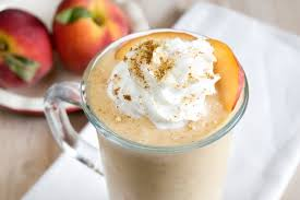 Peach coffee cocktail with cream
