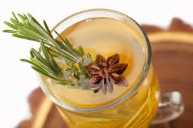 Tangerine cocktail with rosemary