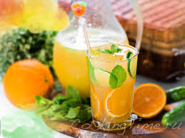 Orange mint drink