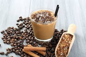 Coffee cocktail with cinnamon and ice