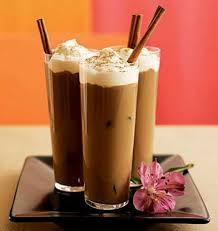 Milkshake with honey and coffee