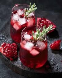 Refreshing pomegranate spritzer