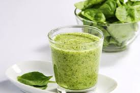 Fruit smoothie with spinach