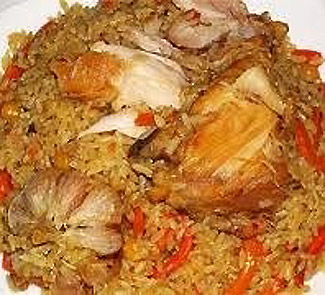 Uzbek pilaf with chicken