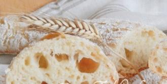 Italian bread washed