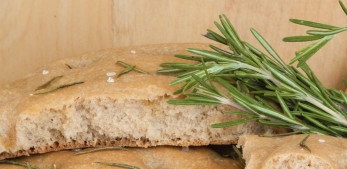 Whole grain focaccia with rosemary