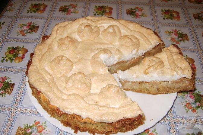 Apple marshmallow pie
