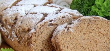 Wheat buckwheat bread with malt
