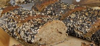 Wheat rye baguette