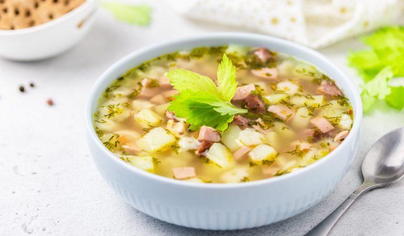 Simple sausage soup