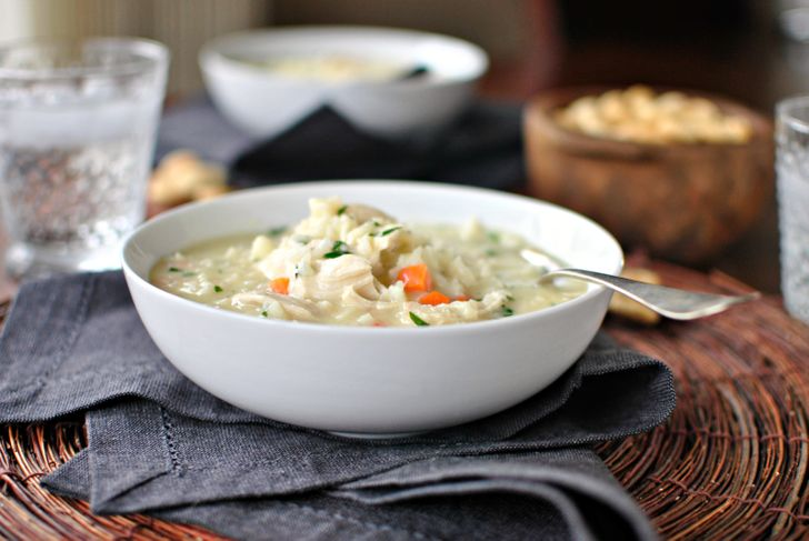 Creamy Chicken Soup with Wild Rice