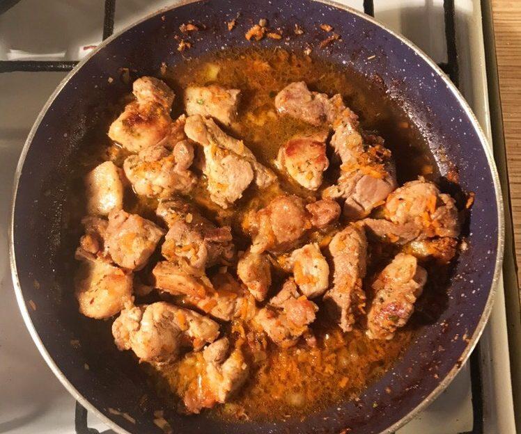 Pork in soy marinade