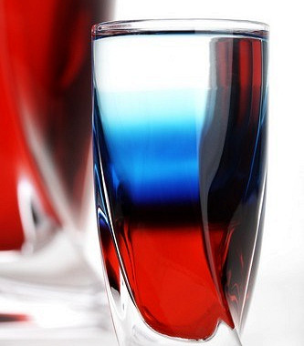 White-blue-red drink
