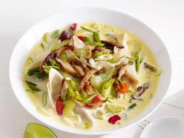 Thai soup with dumplings