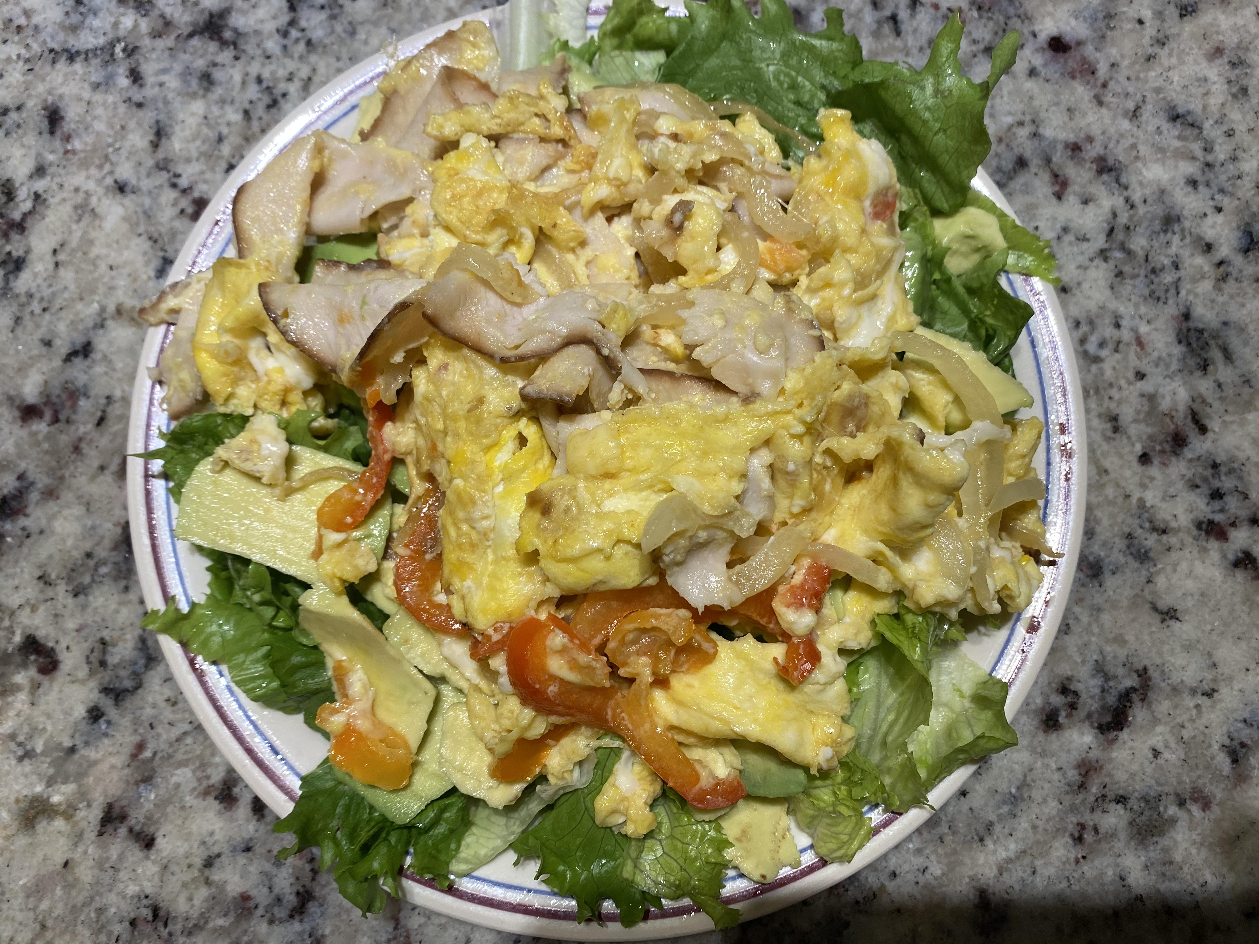 Lettuce  Avocados Egg salad