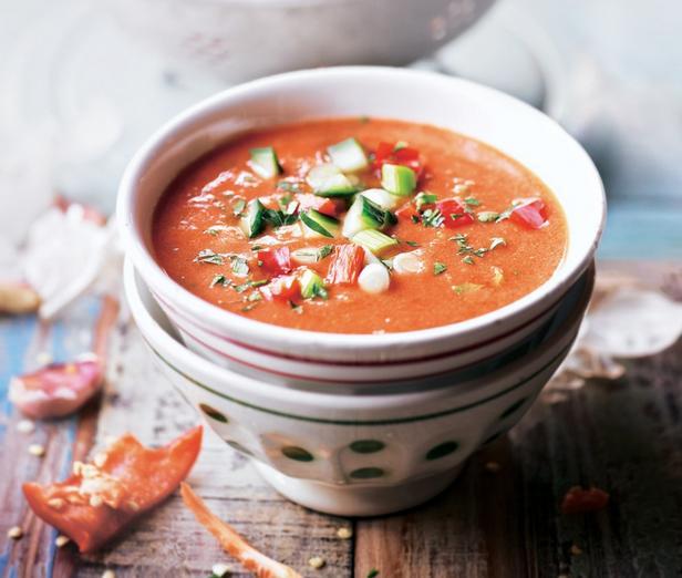 Spanish cold soup Gazpacho