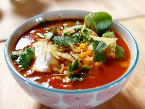 Mexican chicken soup in a slow cooker