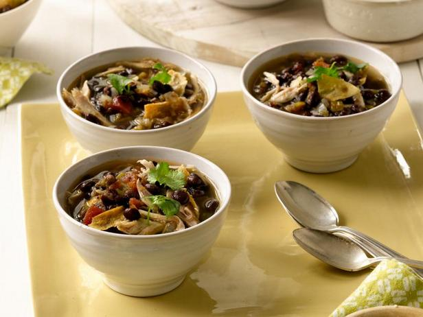 Tortilla soup in a slow cooker