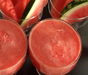 Watermelon lemonade with basil