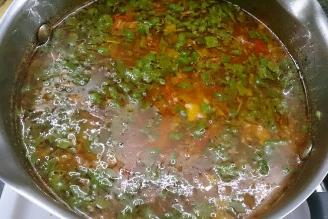 Spicy chicken breast kharcho soup