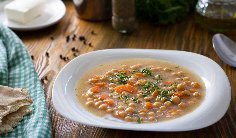 Greek soup with chickpeas