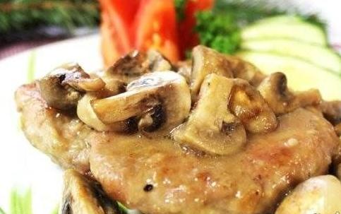 Pork with mushrooms