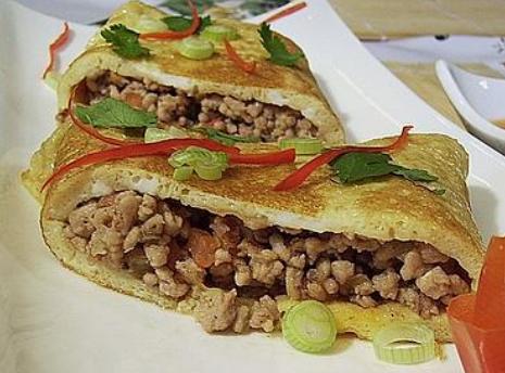 Omelette with pork