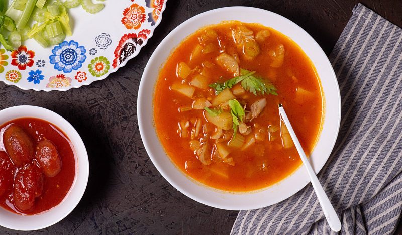 Fish soup with tomatoes