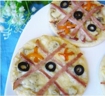 Children's mini pizzas