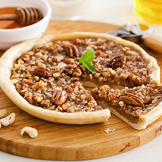 Pizza with nuts and honey in a slow cooker
