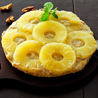 Sweet pizza with pineapple in a slow cooker