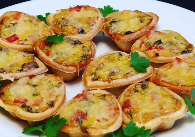 Snack tartlets - pizzas