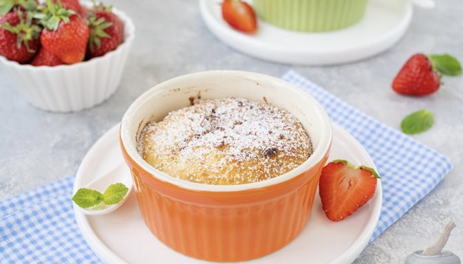 Oven curd pudding