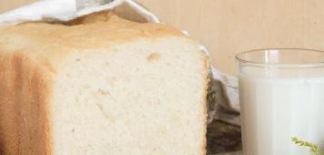 Milk bread in a bread maker