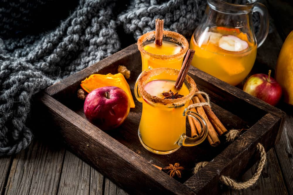 Apple drink with calvados
