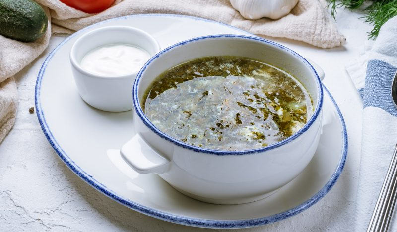 Sorrel soup with stew