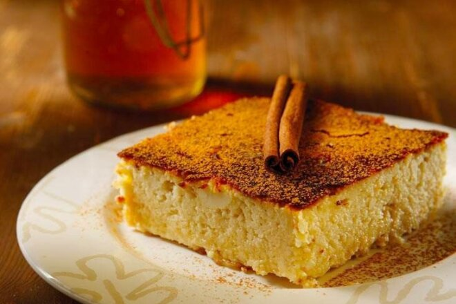 Curd Casserole With Cinnamon And Honey