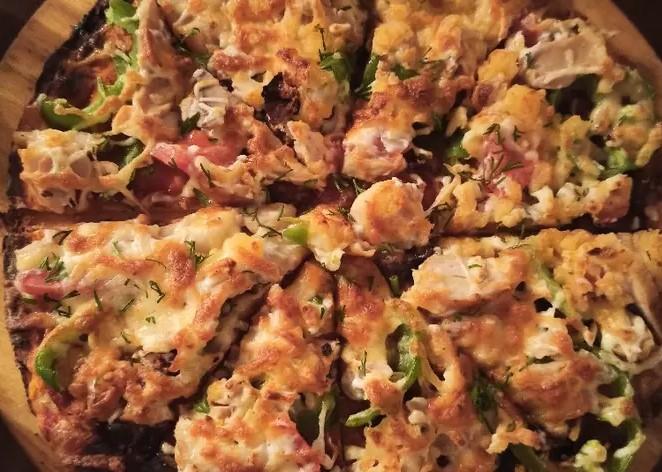Chicken breast pizza