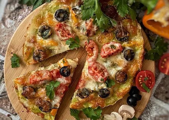 Oven zucchini pizza