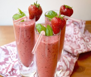 Strawberry and cherry smoothie