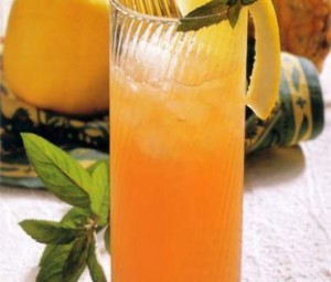 Orange punch with champagne