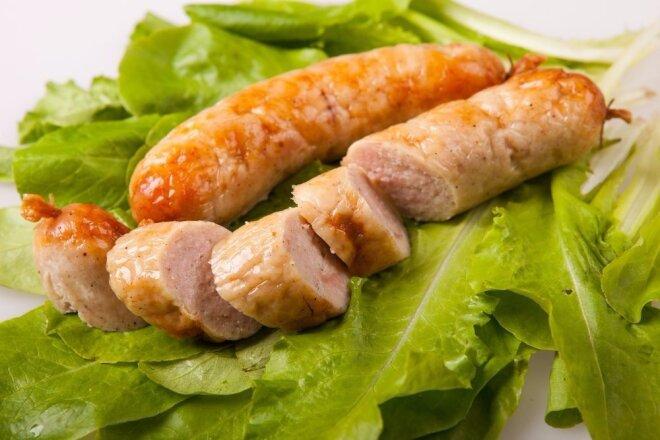 Homemade Chicken Sausage with Cream