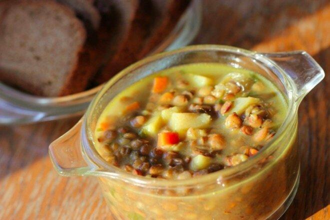 Quick Lentil Soup with Potatoes