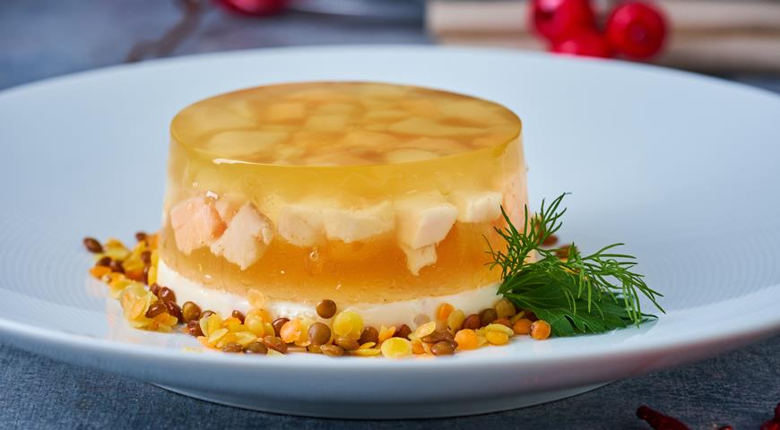 Jellied with two types of fish