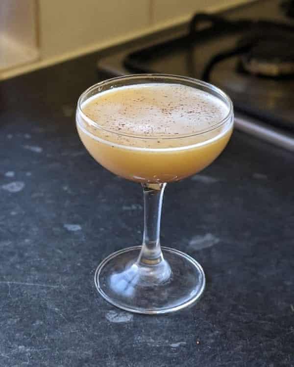 Honey flip with coconut rum