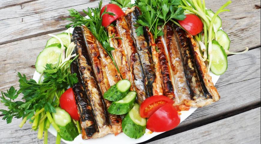 Grilled spicy mackerel